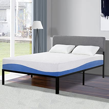 Amazon.com: Olee Sleep 10 Inch Gel Infused Layer Top Memory Foam ...