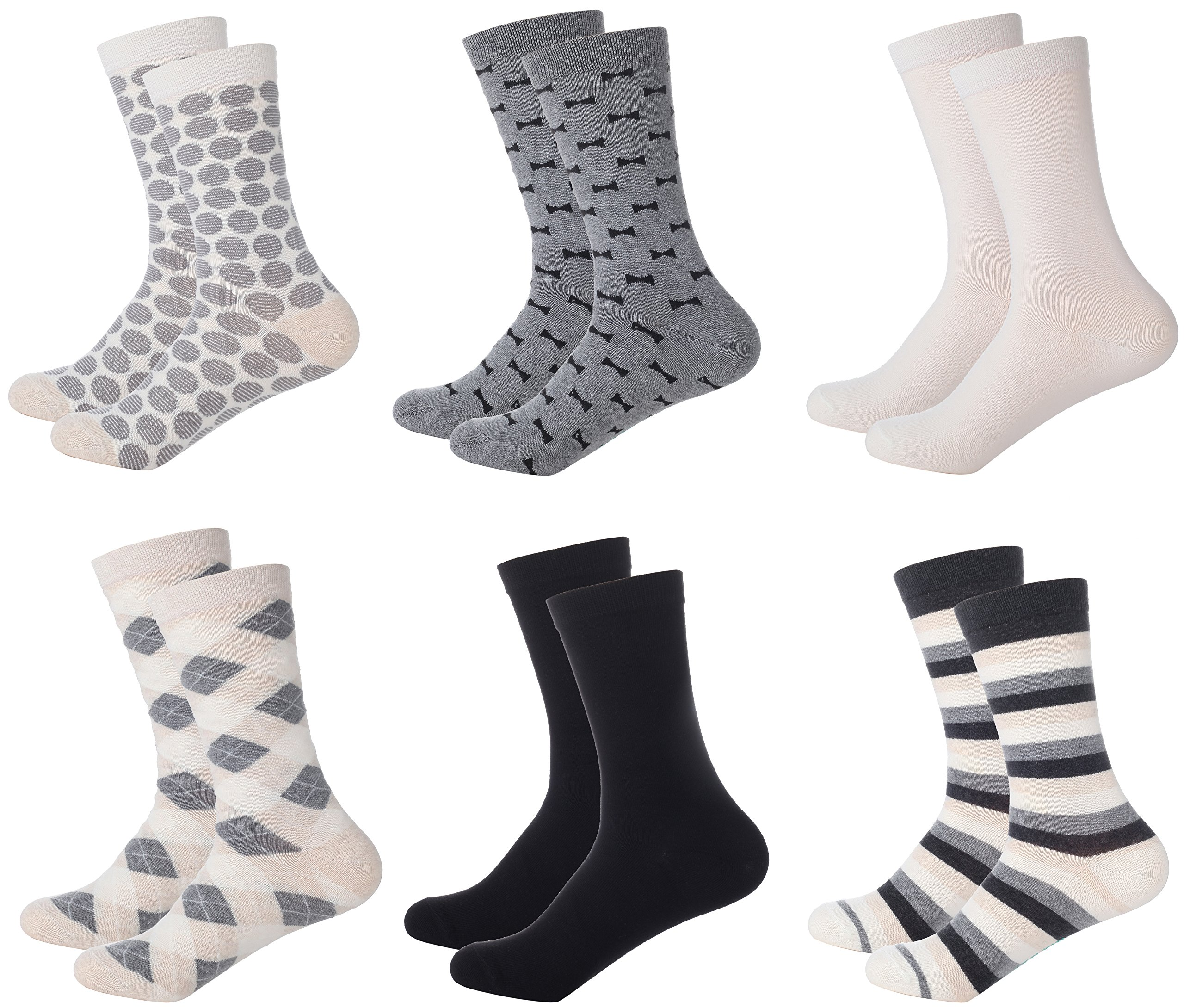 Mio Marino Womens Dress Socks - Colorful Patterned Socks for Women - 6 Pack Style 7-9-11 by Marino Avenue
