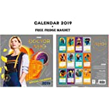 Doctor WHO Official Calendar 2019 + Doctor WHO Fridge Magnet