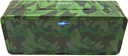 Insignia Portable Bluetooth Speaker NS-SPBTBRICK-CM Camo