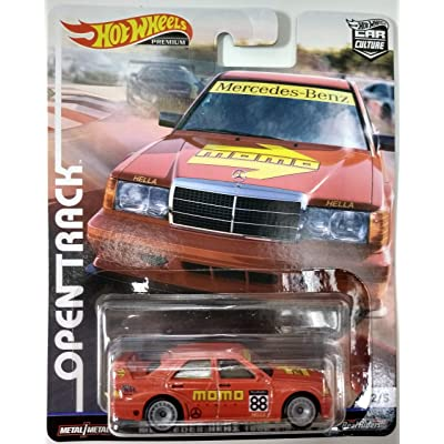 Hot Wheels Mercedes-Benz 190E #2/5 Premium 2020 Real Riders Pop Culture Open Track Series 1:64 Scale Collectible Die Cast Model Car: Toys & Games