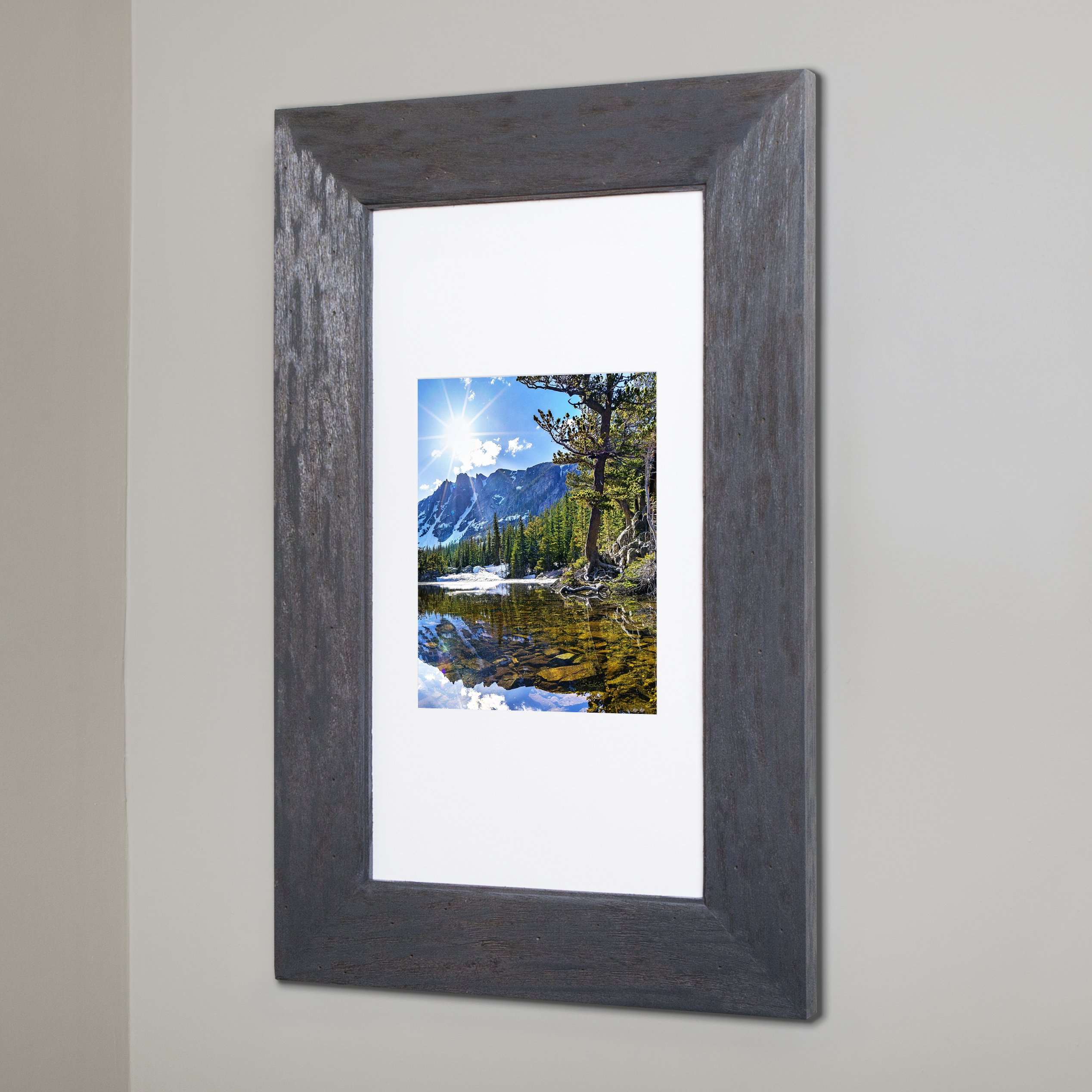 14x24 Rustic Gray Concealed Medicine Cabinet (Extra Large), a Recessed Mirrorless Medicine Cabinet with a Picture Frame Door by The Concealed Cabinet by iinnovators (Image #1)