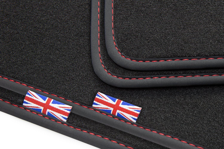 Tuning Art Bej309 Exclusive Fußmatten Union Jack Logo Bandeinfassung Ziernaht Auto