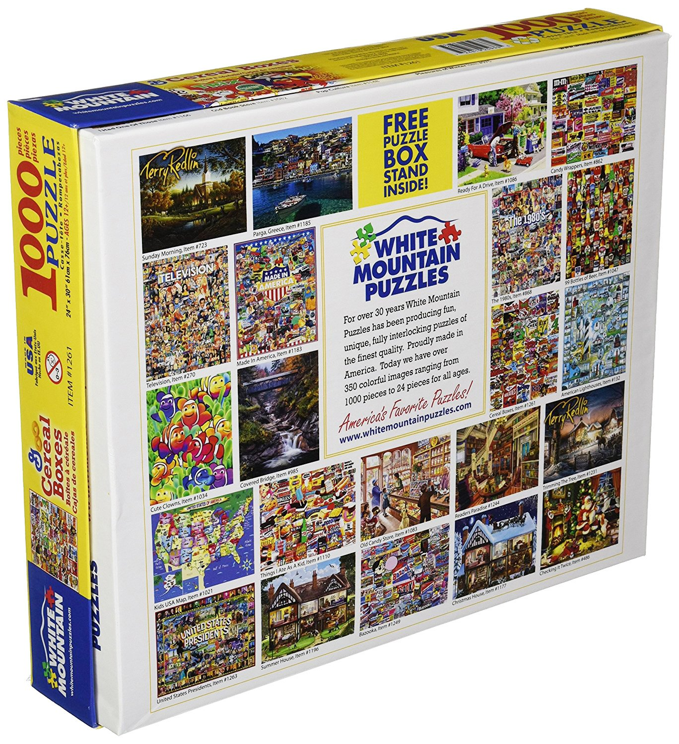 Amazon.com: White Mountain Puzzles Cereal Boxes - 1000 Piece Jigsaw Puzzle: Toys & Games