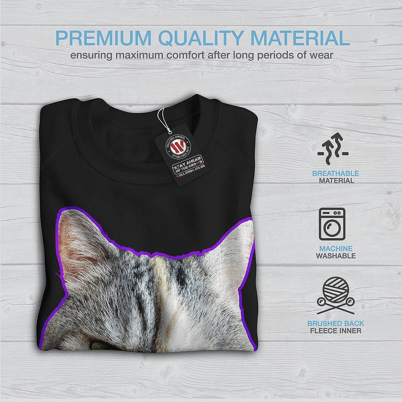 Wellcoda Kiss My Ass Bad Funny Womens Sweatshirt Pussy Print Pullover Jumper