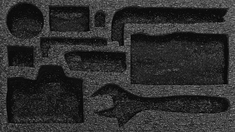 - personalisierbarer Schaumstoff f/ür die Organisation von Werkzeugkisten Shadow Foam Easy Peel 50mm tiefe , Schwarz auf gelb Dreierpack 600mm x 420mm