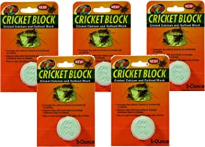 (5 Pack) Zoo Med Cricket Blocks Featuring Gutload and Calcium, 5-Ounce each