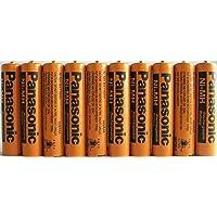 Panasonic HHR-75AAA/B-10 Ni-MH - Batería recargable para teléfonos inalámbricos (700 mAh, 10 unidades)