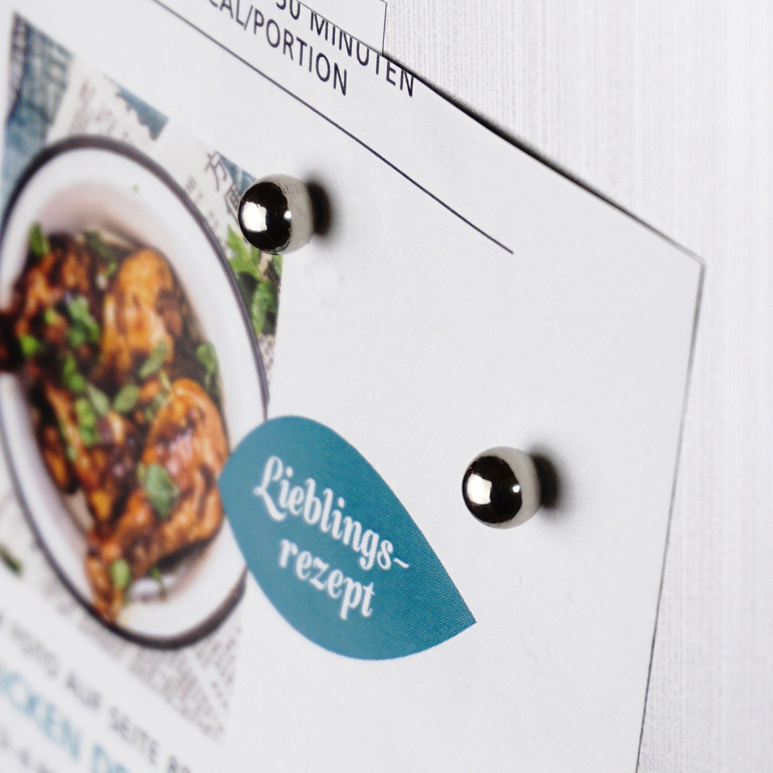 OfficeTree® 216 Mini imanes de neodimio 5x5x5 mm – Sujeción extra fuerte para pizarra blanca, pizarra magnética, tableros, vidrio, frigorífico – Calidad premium