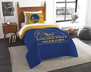 NBA Golden State Warriors Twin Comforter and Sham Set, Twin