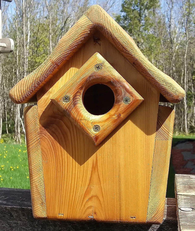 Post Mount Bluebird House Cedar Wood