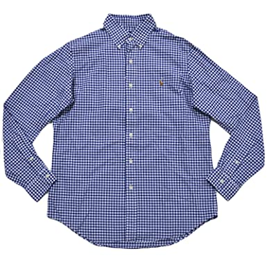 b331764b RALPH LAUREN Mens Gingham Oxford Shirt at Amazon Men's Clothing store: