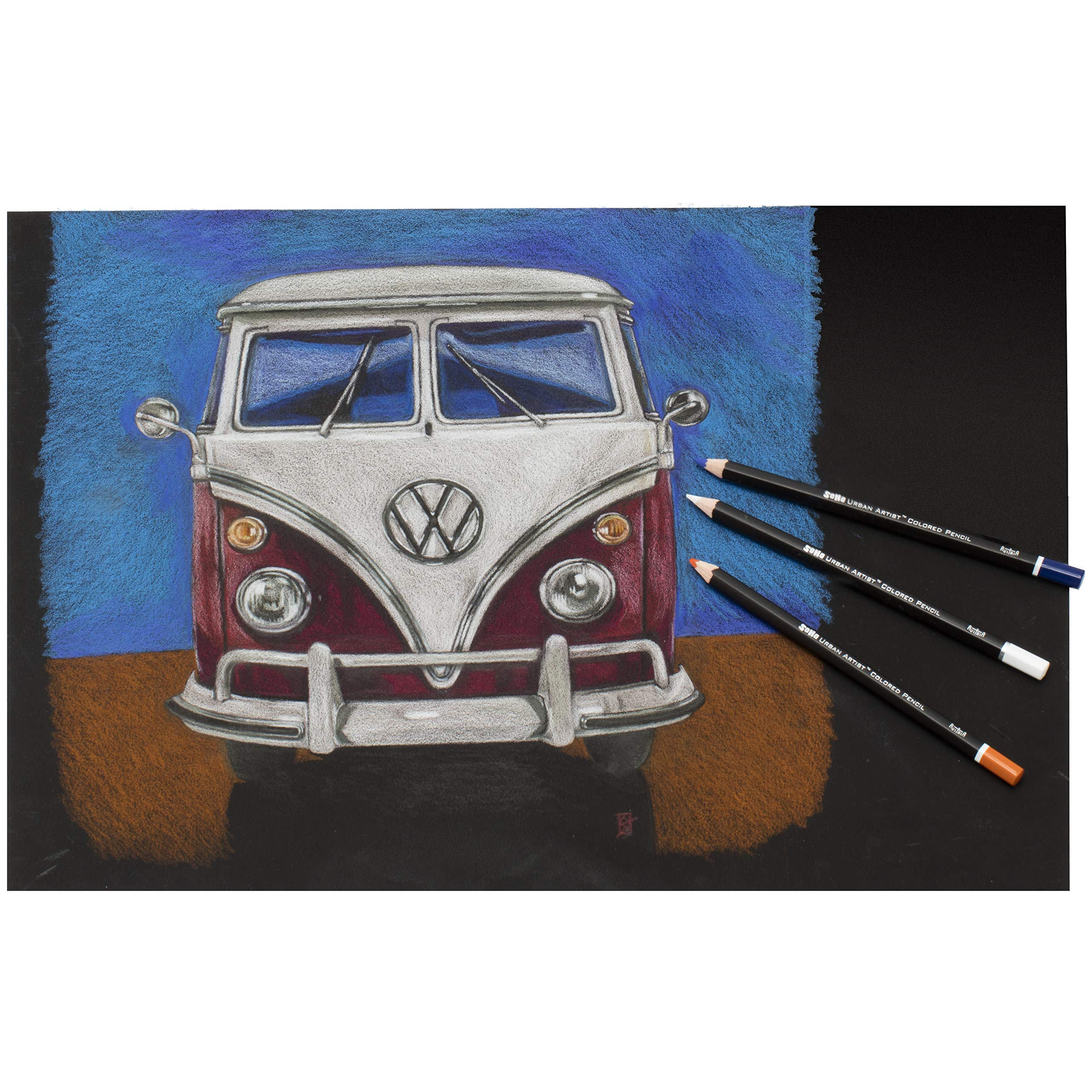 SoHo Urban Artist Professional Colored Pencil Set of 72 - Assorted Colors by Soho Urban Artist (Image #1)