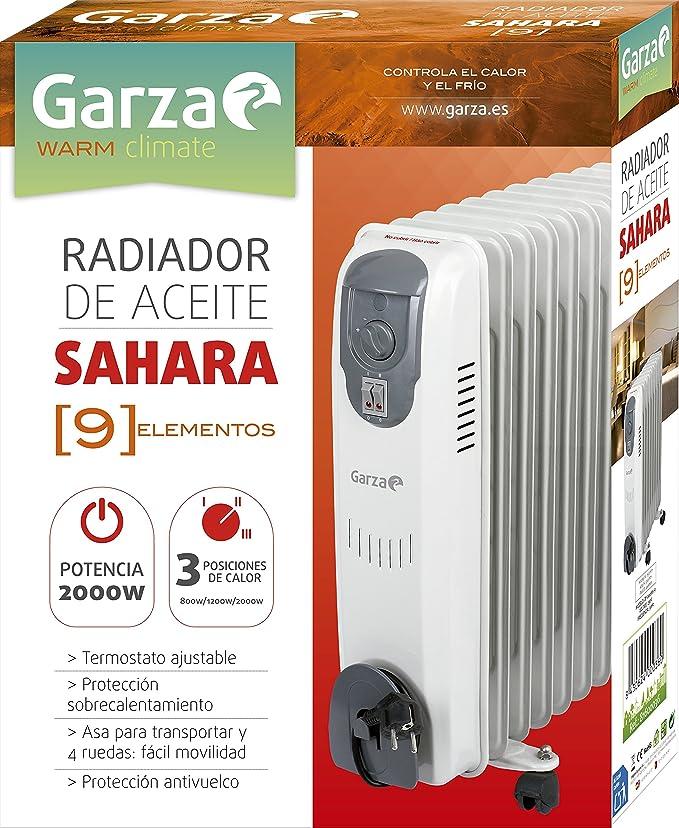 Garza Sahara Mini - Radiador de aceite ligero, potencia 800W ...