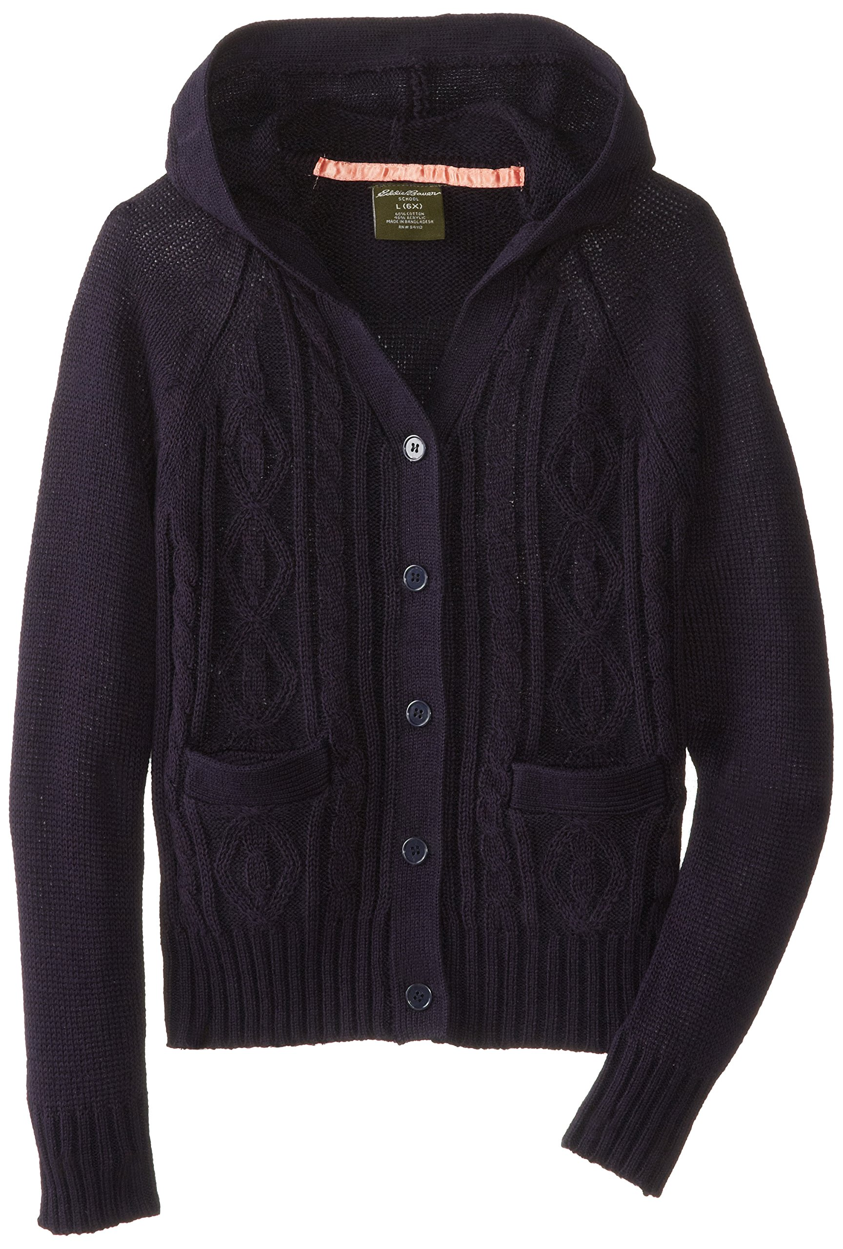 Eddie Bauer Girls' Sweater (More Styles Available), Warm Navy, 4