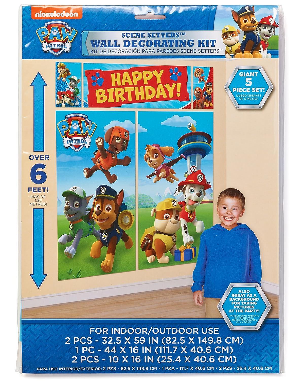 Amazon Paw Patrol Wall Decorations Giant 5 Piece Set Toys Games