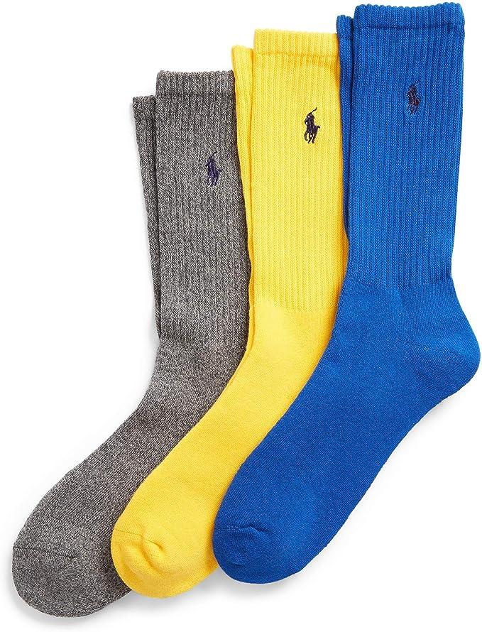 Polo Ralph Lauren - 3 pares de calcetines de algodón peinado ...