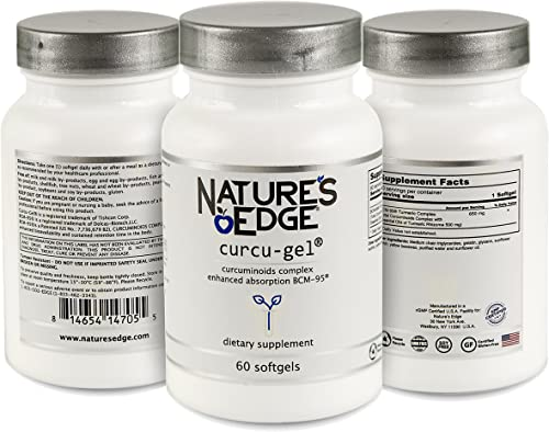Nature's Edge Curcu-Gel Ultra Powerful Curcugreen Turmeric Complex Clinically Tested Total Curcuminoids Complex