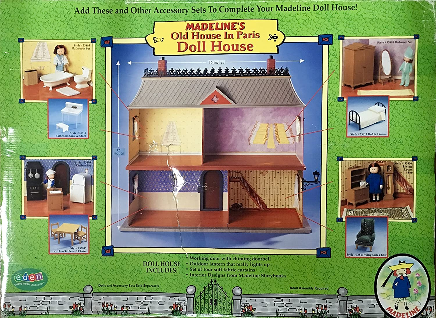 Amazon.com: Madelineu0027s Old House In Paris Doll House (2000)   Rare/Retired:  Toys U0026 Games