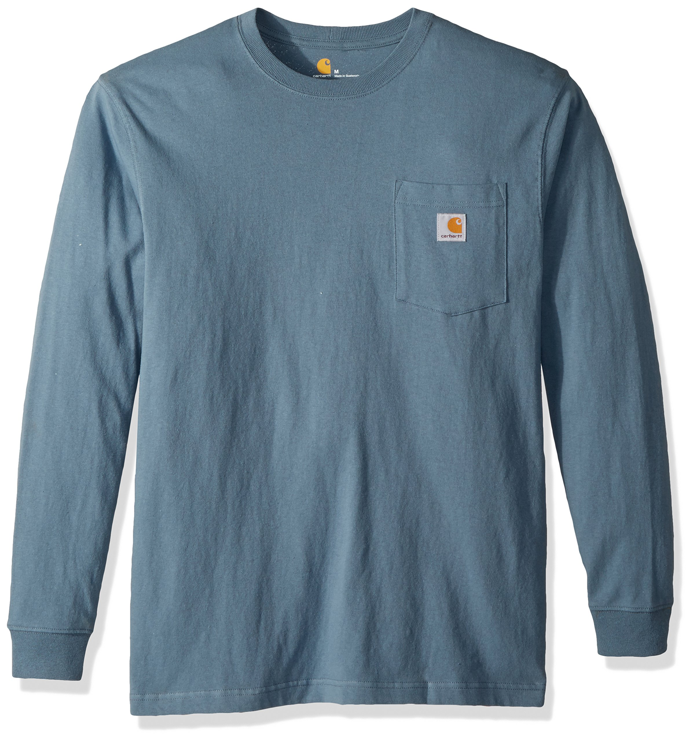 Carhartt Men's Workwear Pocket Long Sleeve T-Shirt K126, Steel Blue, 2X-Large