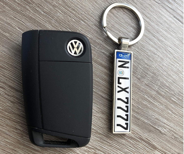 Llavero en calidad premium con coche carteles deseos Matrícula personalizada para Auto Matrícula