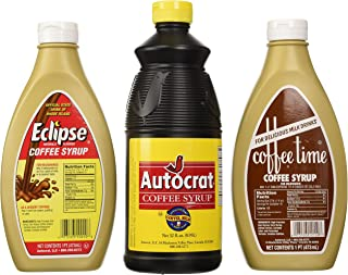 product image for Coffee Syrup Sample Pack (1 Autocrat 32 Oz, 1 Eclipse 16 Oz and 1 Coffee Time Coffee Syrup 16 Oz)