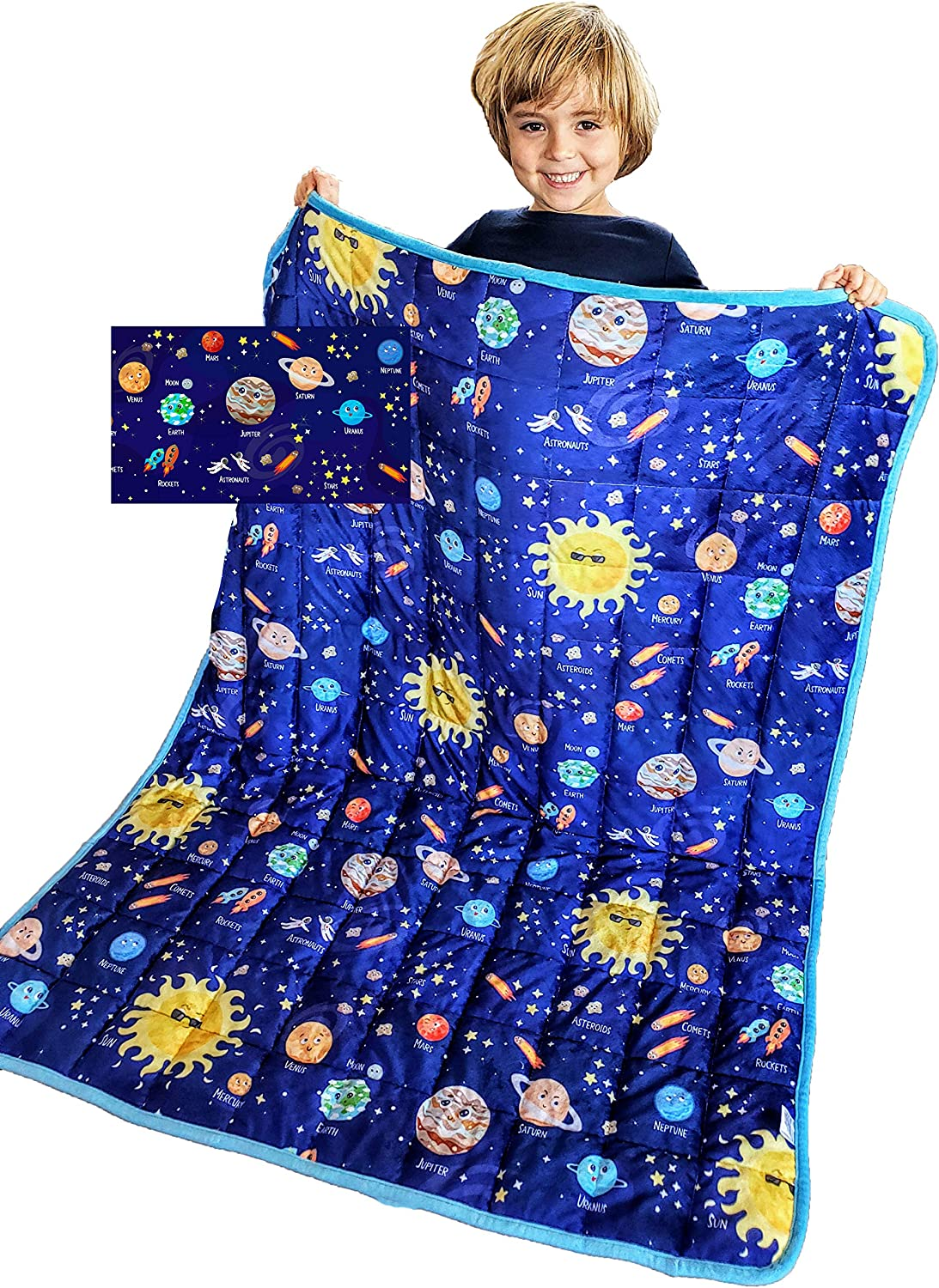 Solar system weighted blanket
