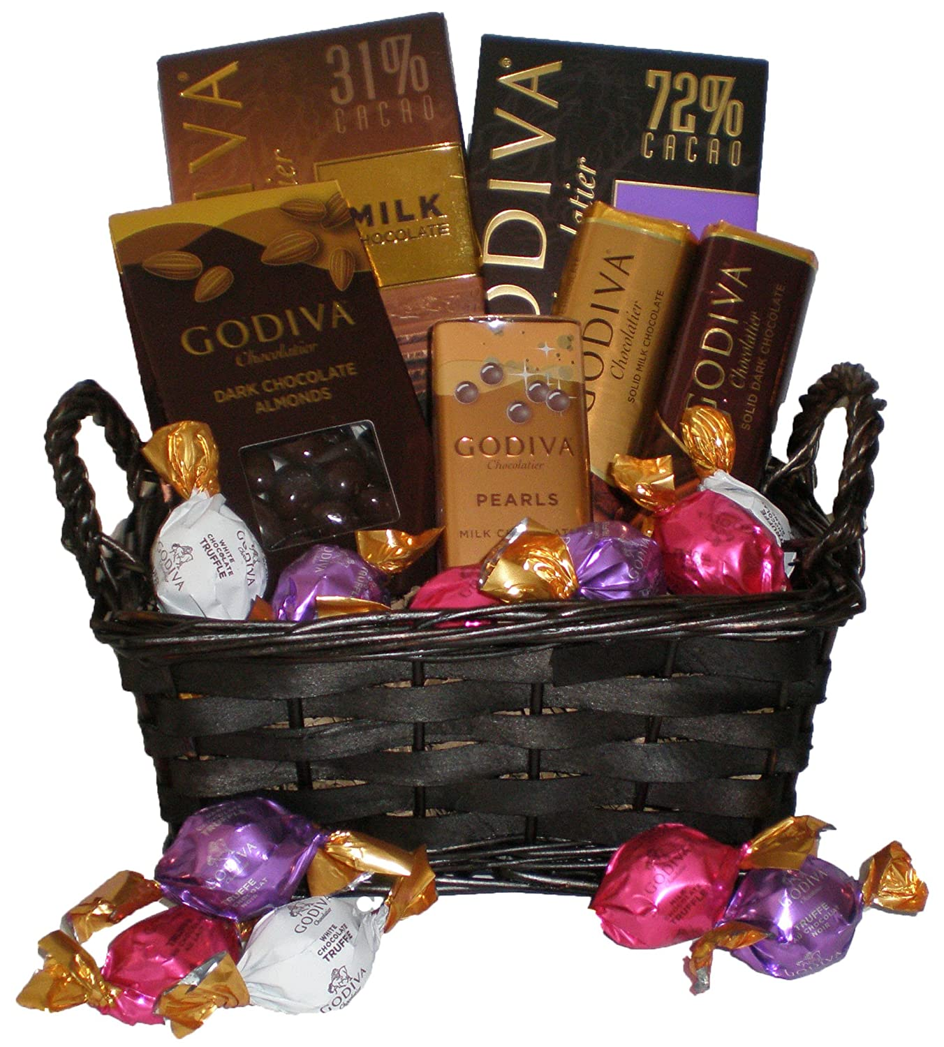 how to make a chocolate basket gift