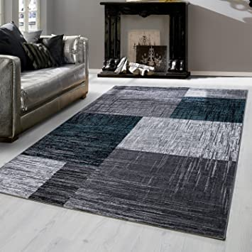 Amazon.de: Modern designer Teppich für Wohnzimmer kariert Vintage ...