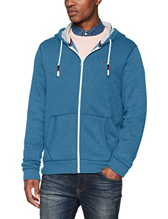 ff14370f7a04f Tommy Hilfiger Men's Hoodie Full Zip up Sweatshirt, Blue Sapphire, Small