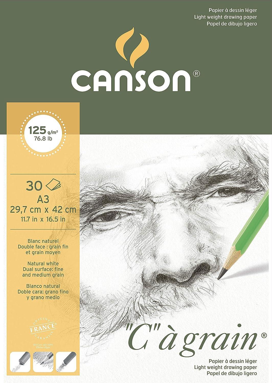 50 fogli lato incollato Pad Blue Print millimetri-Carta da disegno Canson formato A3 90 g//m/²