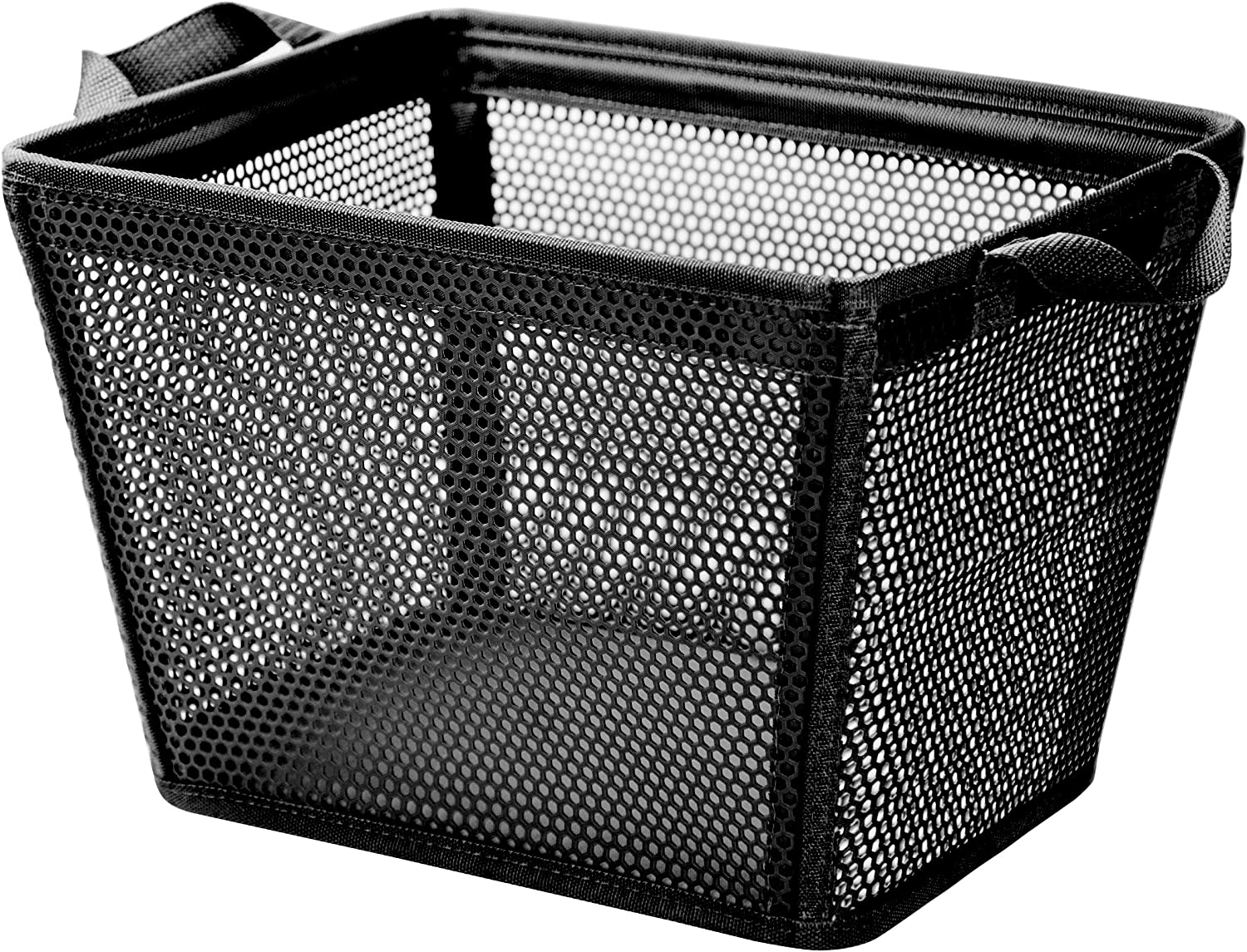mambabydad Collapsible Laundry Hamper, EVA Plastic Storage Laundry Basket with Dual Handles (Rectangle-27L, Black)