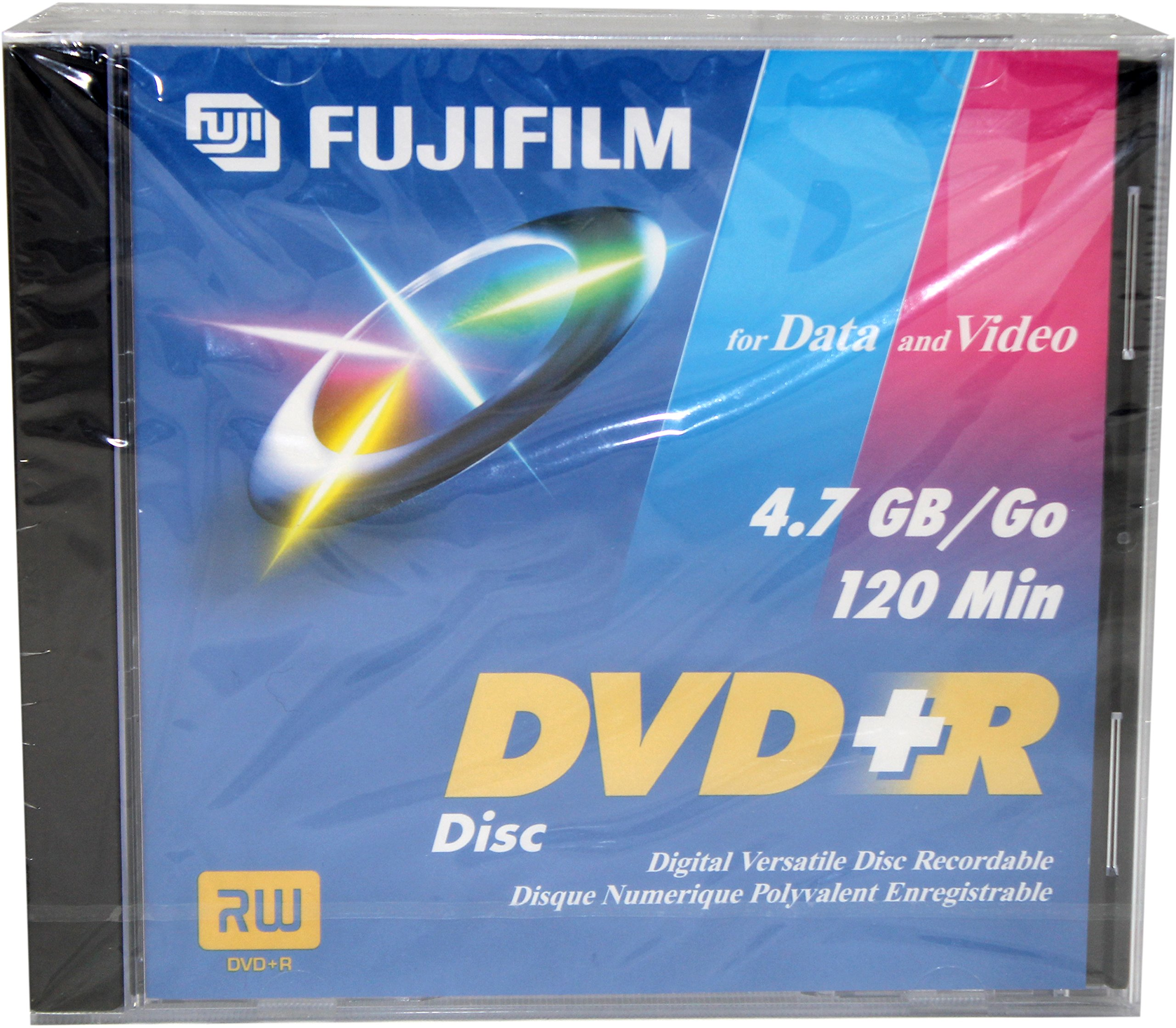 Fuji Dvd+r Dvd+r 4.7gb General Purpose Dvd Disc 5 Pack