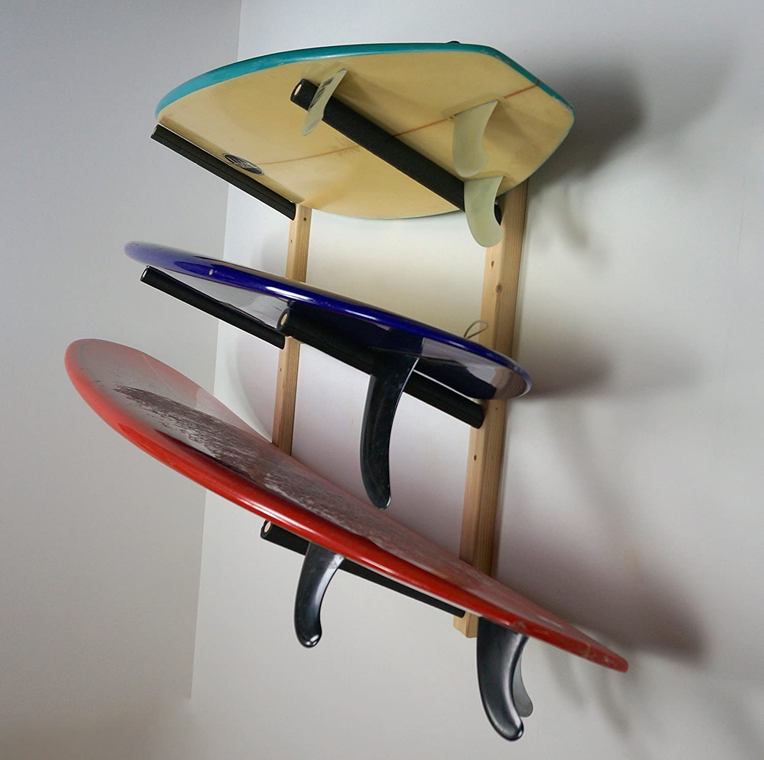 surfboard wood home pin wall pinterest happy compact rack