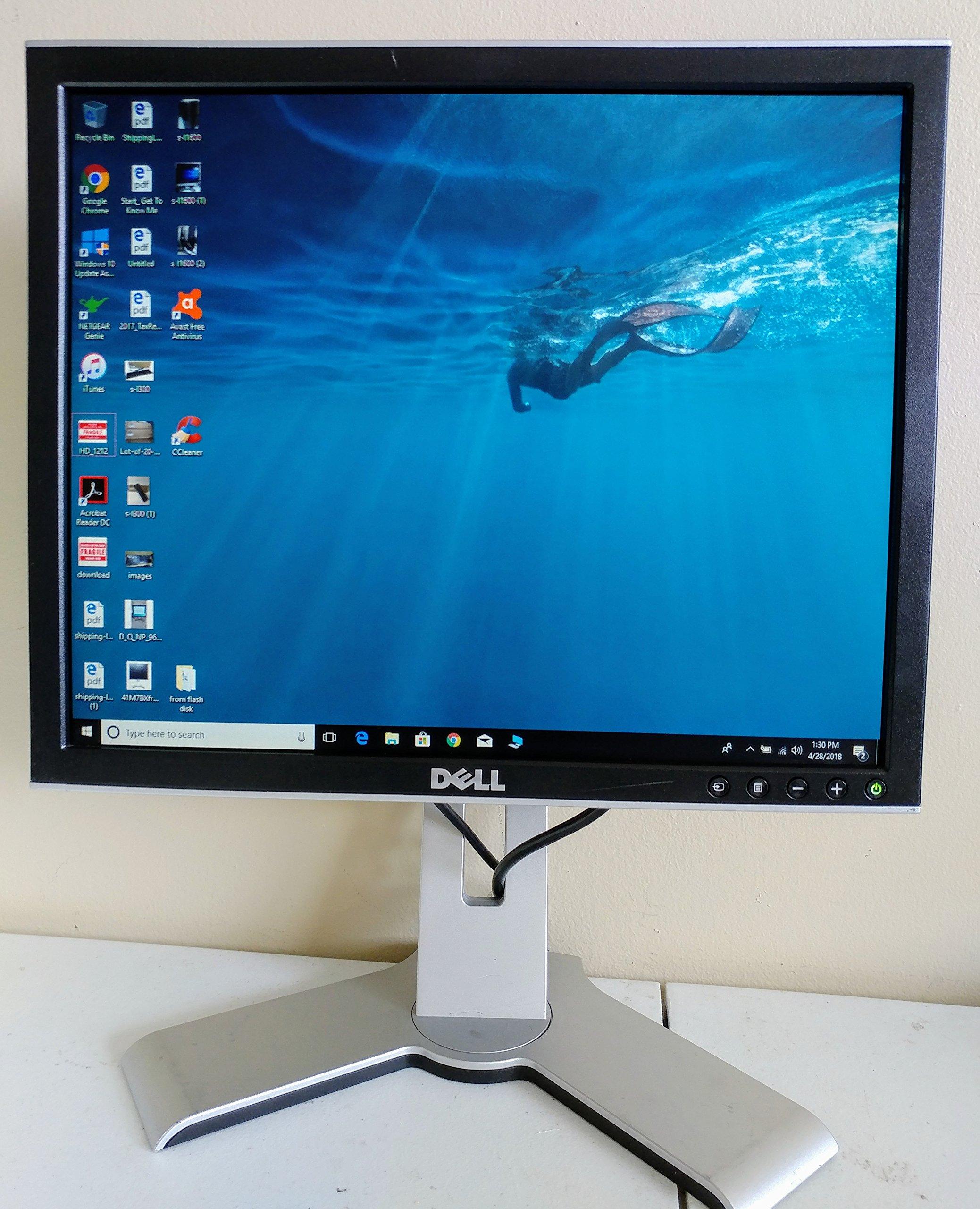 "17"" Dell 1708FPb DVI Rotating LCD Monitor w/USB Hub (Silver/Black) - Rotates to Portrait or Landscape View!"