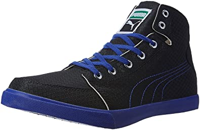 Puma Men's Drongos Idp Puma Black and Mazarin Blue Sneakers - 10 UK/India (