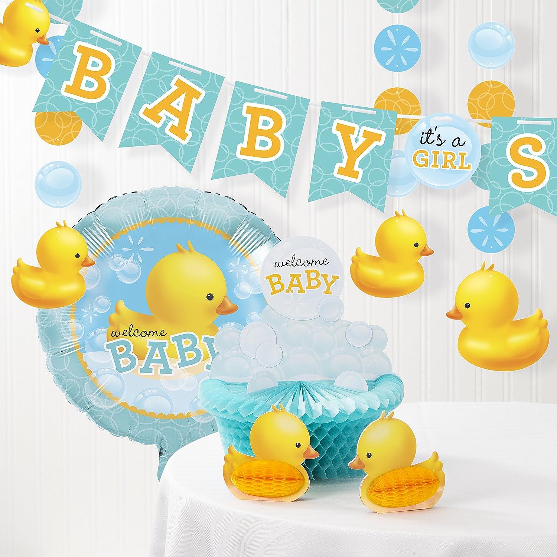 Amazon.com: Bubble Bath Rubber Duck Baby Shower Decorations Kit: Health &  Personal Care