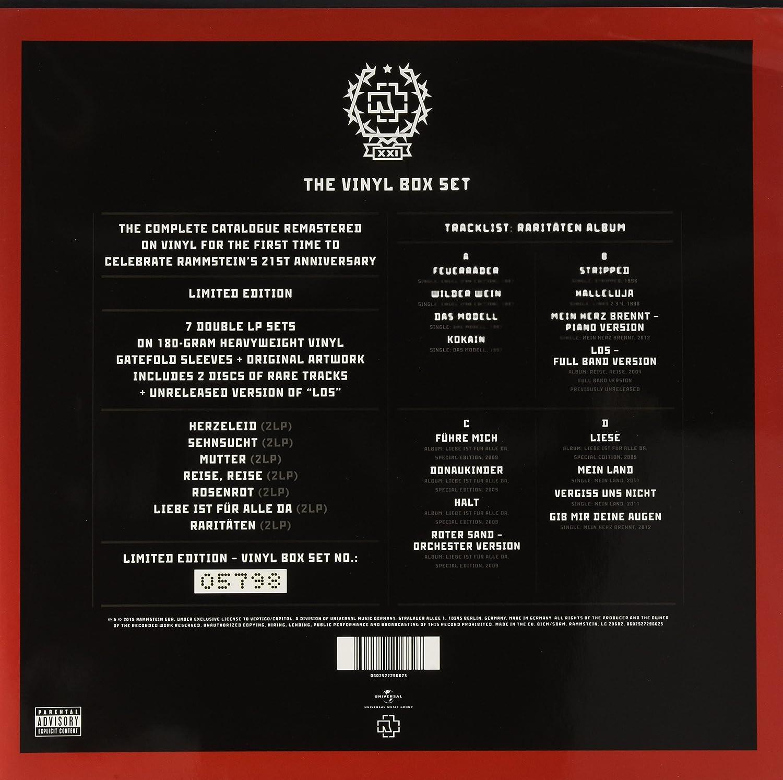 Xxi The Vinyl Box Set Vinyl Lp Rammstein Amazon De Musik