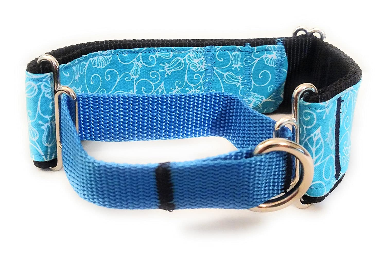 Blue Paisley Half Wrapped Martingale Collar