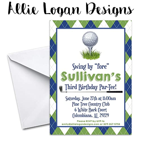 Image Unavailable Not Available For Color Golf Themed Par TEE Birthday Invitation
