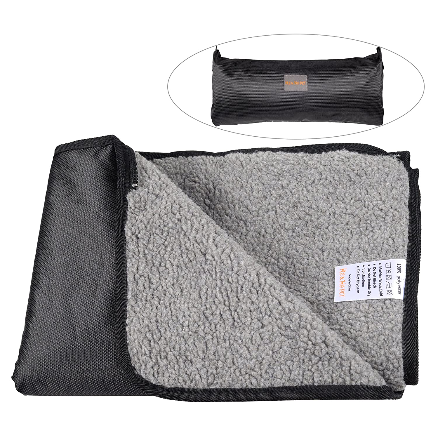 262aa5e73f Amazon.com   He Ha pet Waterproof Pet Blanket Dog Blankets Medium Outdoor  and Indoor for Medium and Large Dogs and Cats with Storage Bag (38