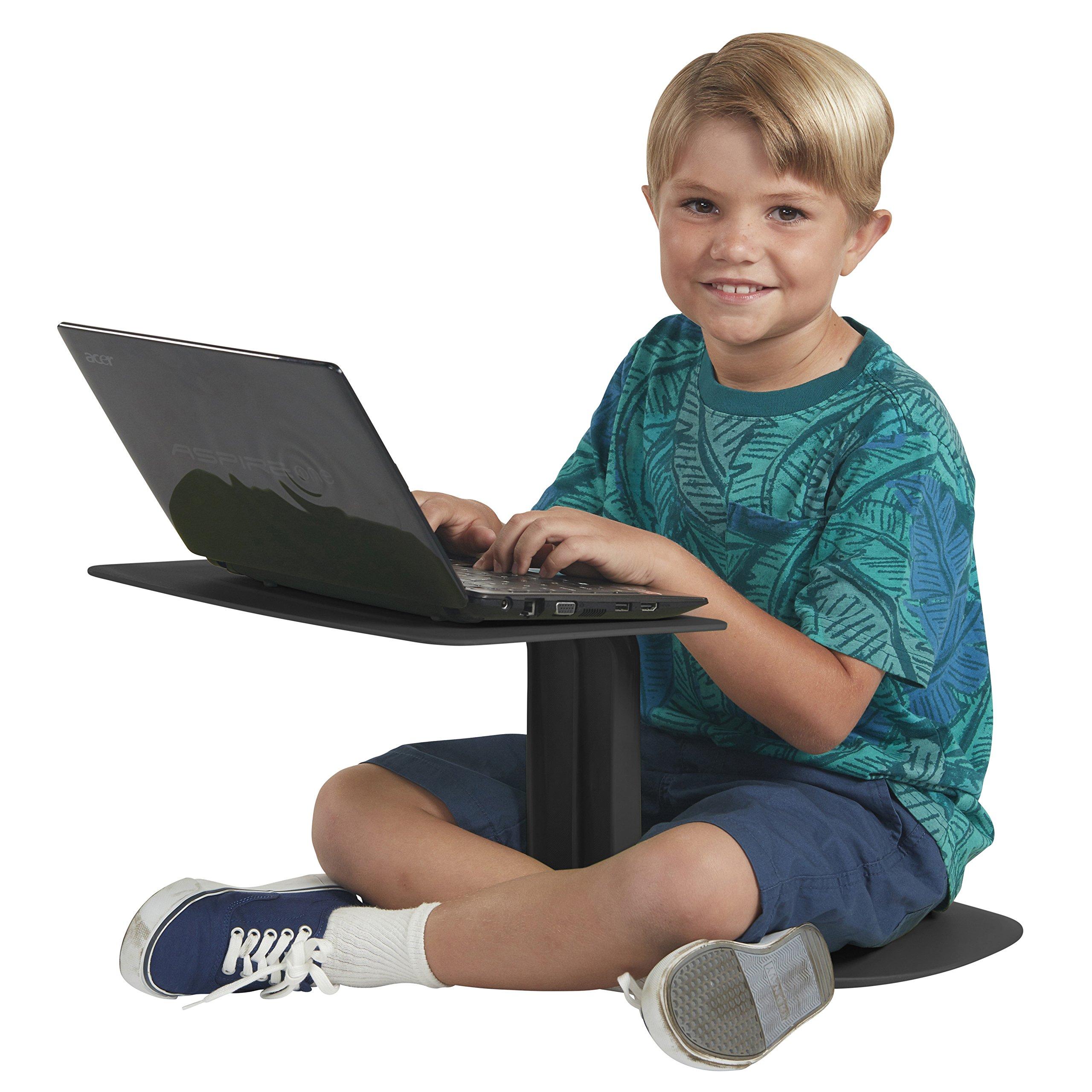 ECR4Kids The Surf Portable Lap Desk/Laptop Stand/Writing Table, Black