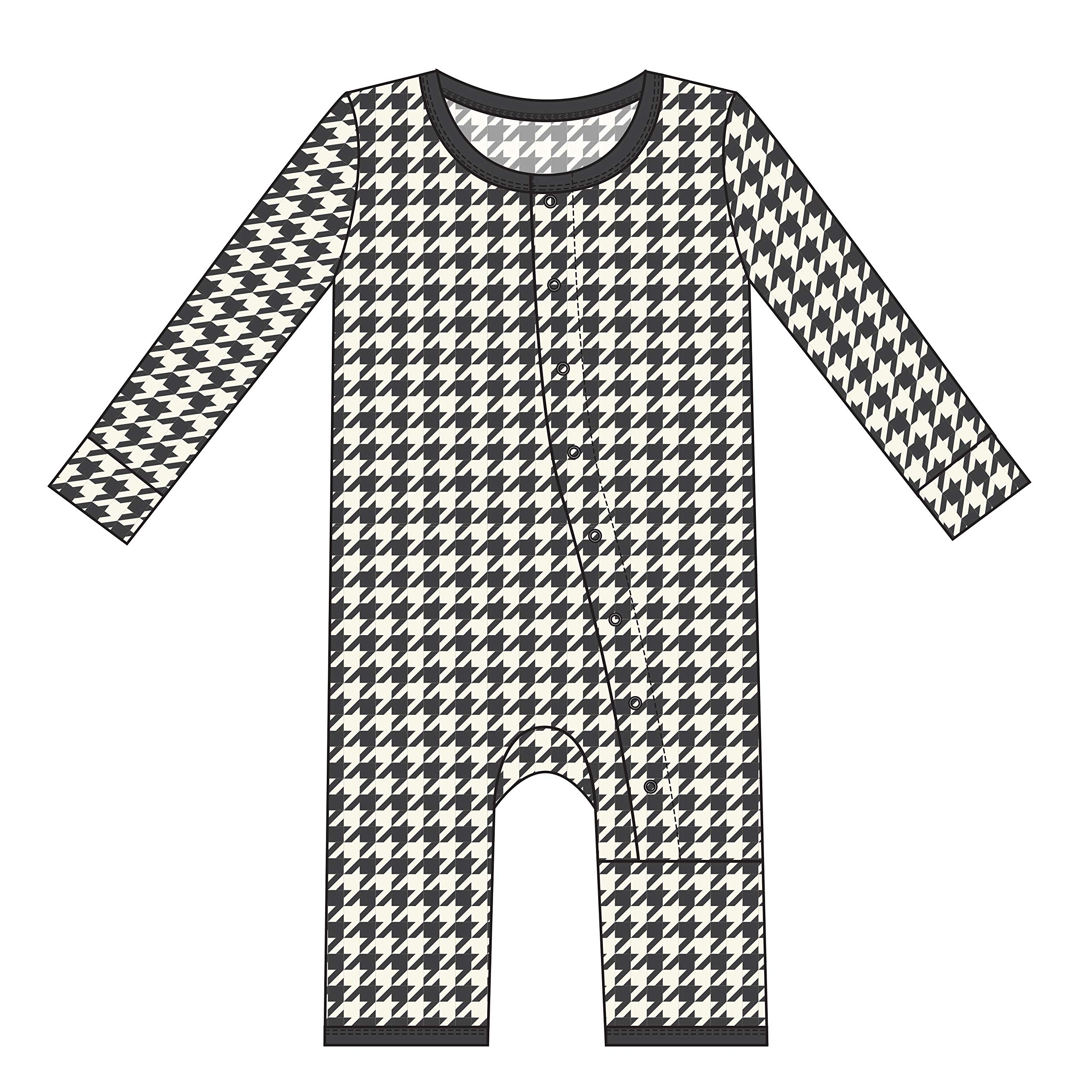 604bdac2c49b Kickee Pants Little Girls Print Coverall with Snaps - Zebra Houndstooth