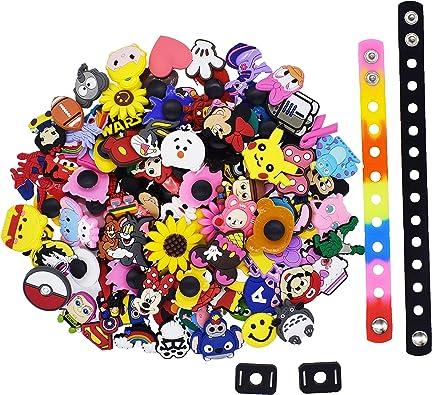 US Stock 100PCS Random Shoe Charms Accessories For Fit Croc Jibbitz Bracelets