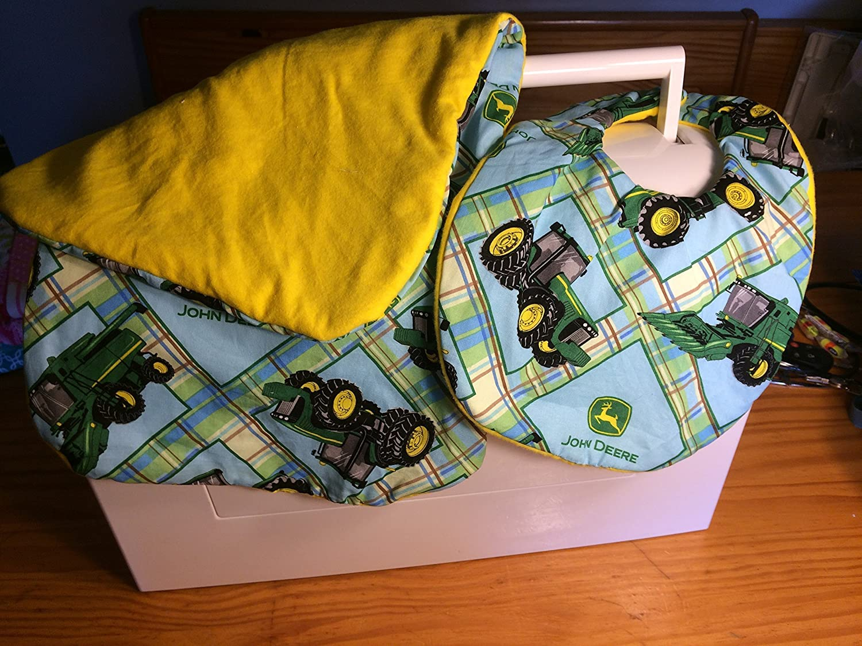 John Deere BIb and Burp Cloth Set