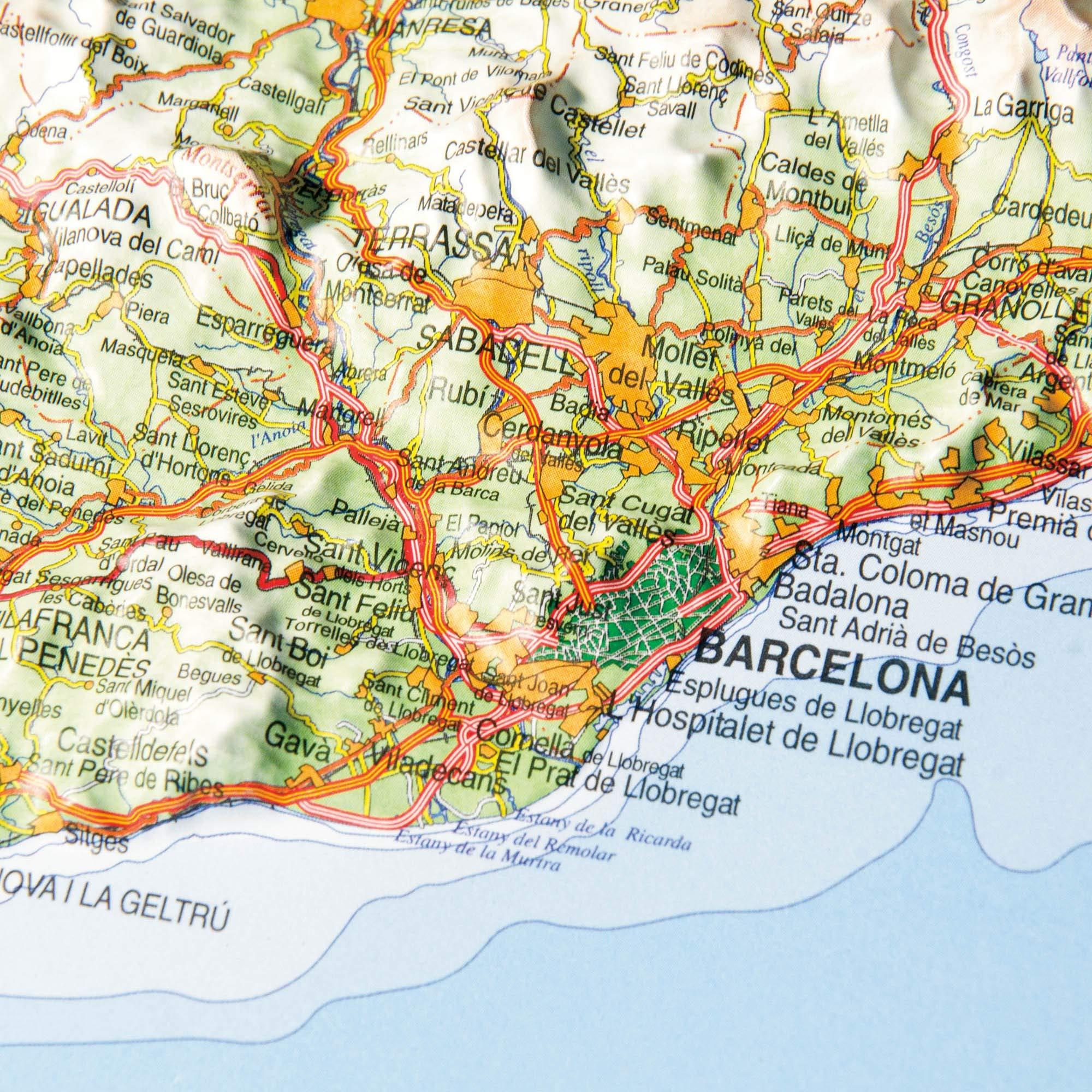 Mapa en relieve de Cataluña: Escala 1:800.000: Amazon.es: All 3D Form, S.L.: Libros