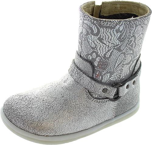 a160212d9a5 Bobux I-Walk Strap Boot - Botas de Piel para niña Plateado Plata:  Amazon.es: Zapatos y complementos