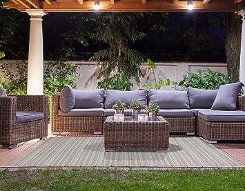 Brown Jordan Prime Label Patio Furniture Rug 8x10 Barnwell Collection Sisal  Woven Modern Outdoor Rugs,