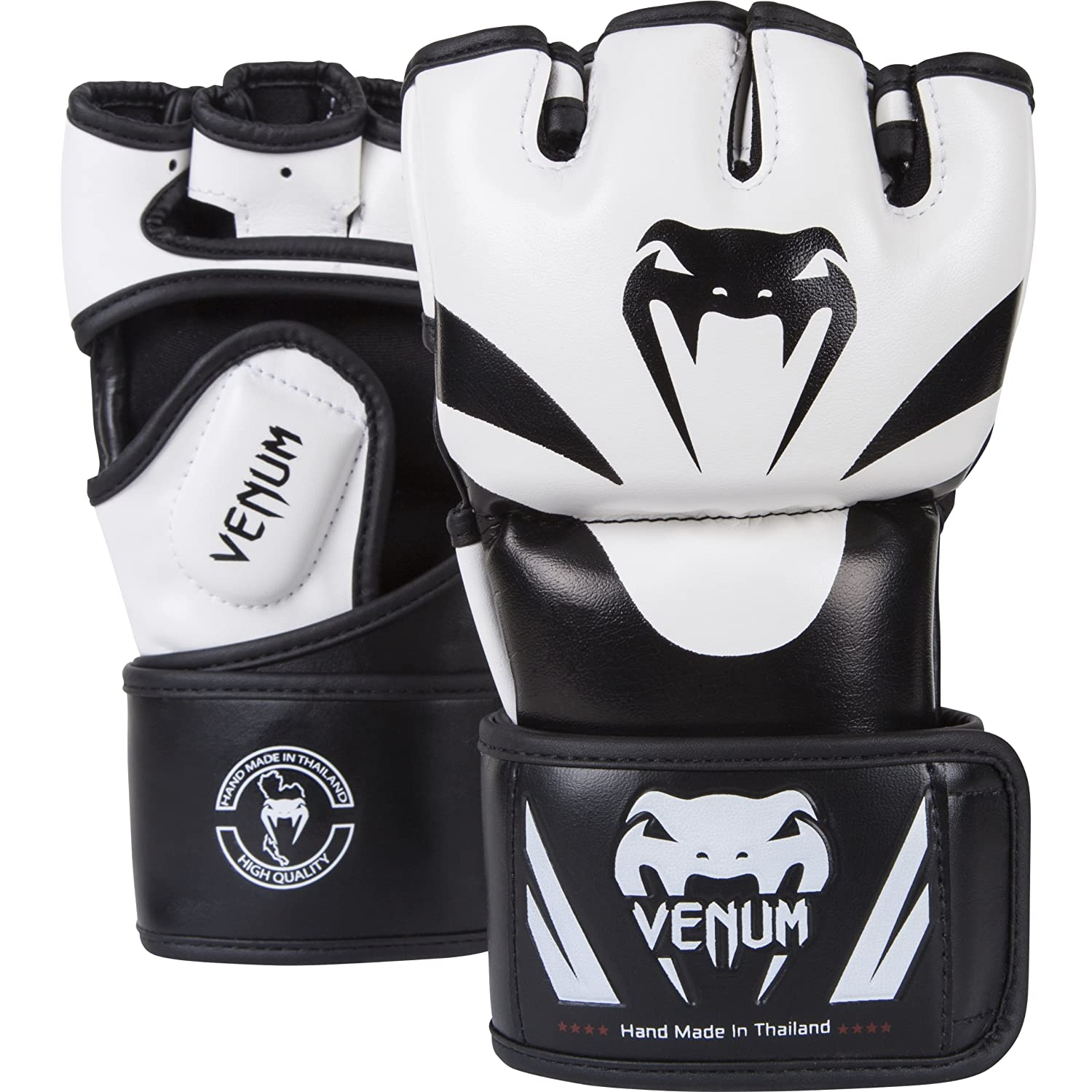 Venum 0681-L/XL Attack MMA Gloves, Black/White VENUQ