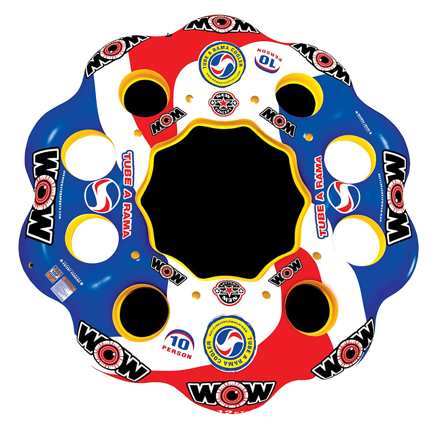 WOW World of Watersports, 13-2060 Tube A Rama, ten people inflatable floating island, 12-foot diameter